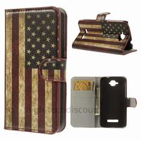 Housse etui coque pochette portefeuille PU cuir pour Alcatel One Touch Pop C7 7045D + film ecran - USA