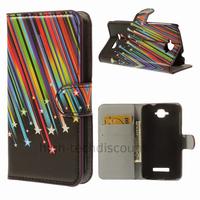 Housse etui coque pochette portefeuille PU cuir pour Alcatel One Touch Pop C7 7045D + film ecran - ETOILES