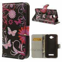 Housse etui coque pochette portefeuille PU cuir pour Alcatel One Touch Pop C7 7045D + film ecran - FLEURS N