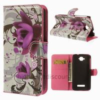 Housse etui coque pochette portefeuille PU cuir pour Alcatel One Touch Pop C7 7045D + film ecran - LOTUS