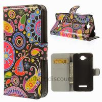 Housse etui coque pochette portefeuille PU cuir pour Alcatel One Touch Pop C7 7045D + film ecran - PAISLEY