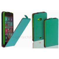 Housse etui coque pochette simili cuir fine pour Microsoft Lumia 535 + film ecran - BLEU