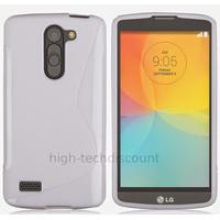 Housse etui coque pochette silicone gel fine pour LG L Bello + film ecran - BLANC
