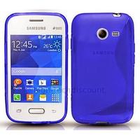 Housse etui coque silicone gel fine pour Samsung G110H Galaxy Pocket 2 + film ecran - BLEU