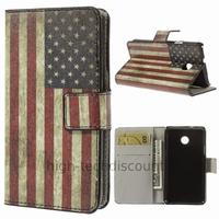 Housse etui coque portefeuille simili cuir pour Huawei Ascend Y330 + film ecran - USA