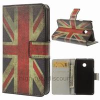 Housse etui coque portefeuille simili cuir pour Huawei Ascend Y330 + film ecran - UK