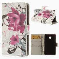 Housse etui coque portefeuille simili cuir pour Huawei Ascend Y330 + film ecran - LOTUS