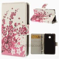 Housse etui coque portefeuille simili cuir pour Huawei Ascend Y330 + film ecran - CERISIER