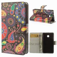 Housse etui coque portefeuille simili cuir pour Huawei Ascend Y330 + film ecran - PAISLEY