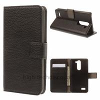 Housse etui coque portefeuille simili cuir pour LG L Bello + film ecran - NOIR