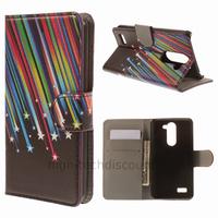 Housse etui coque portefeuille simili cuir pour LG L Bello + film ecran - ETOILES