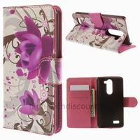 Housse etui coque portefeuille simili cuir pour LG L Bello + film ecran - LOTUS