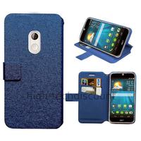 Housse etui coque pochette portefeuille pour Acer Liquid Z200 Duo + film ecran - BLEU
