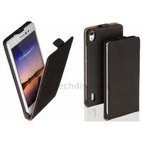 Housse etui coque pochette PU cuir fine pour Huawei Ascend P7 + film ecran - NOIR
