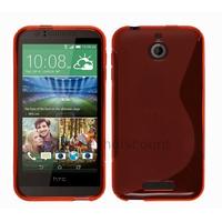 Housse etui coque pochette silicone gel fine pour HTC Desire 510 + film ecran - ROUGE