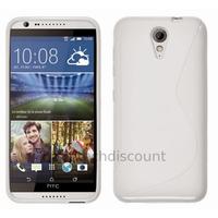 Housse etui coque pochette silicone gel fine pour HTC Desire 620 + film ecran - BLANC