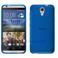 Housse etui coque pochette silicone gel fine pour HTC Desire 620 + film ecran - BLEU