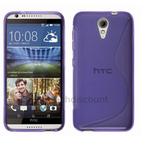 Housse etui coque pochette silicone gel fine pour HTC Desire 620 + film ecran - MAUVE