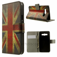 Housse etui coque pochette portefeuille PU cuir pour Samsung Galaxy A3 + film ecran - UK