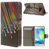 Housse etui coque pochette portefeuille PU cuir pour Samsung Galaxy A3 + film ecran - ETOILES