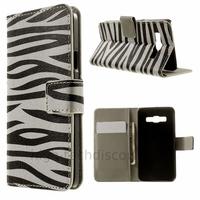 Housse etui coque pochette portefeuille PU cuir pour Samsung Galaxy A3 + film ecran - ZEBRE