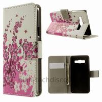 Housse etui coque pochette portefeuille PU cuir pour Samsung Galaxy A3 + film ecran - CERISIER