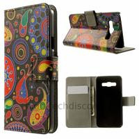 Housse etui coque pochette portefeuille PU cuir pour Samsung Galaxy A3 + film ecran - PAISLEY