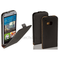 Housse etui coque pochette PU cuir fine pour HTC One M9 + film ecran - NOIR