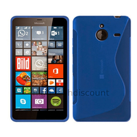 Housse etui coque pochette silicone gel fine pour Microsoft Lumia 640 XL LTE + film ecran - BLEU