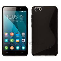Housse etui coque pochette silicone gel fine pour Huawei Honor 4X + film ecran - NOIR