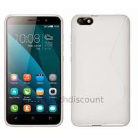 Housse etui coque pochette silicone gel fine pour Huawei Honor 4X + film ecran - BLANC
