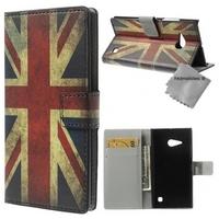 Housse etui coque portefeuille PU cuir pour Microsoft Lumia 550 + film ecran - UK