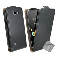 Housse etui coque pochette PU cuir fine pour LG K4 + film ecran - NOIR