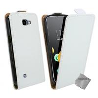 Housse etui coque pochette PU cuir fine pour LG K4 + film ecran - BLANC