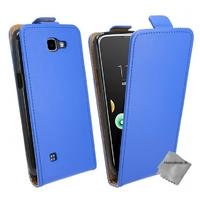 Housse etui coque pochette PU cuir fine pour LG K4 + film ecran - BLEU