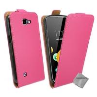 Housse etui coque pochette PU cuir fine pour LG K4 + film ecran - ROSE