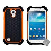 Housse etui coque anti choc Samsung i9190 Galaxy S4 Mini + film ecran - ORANGE