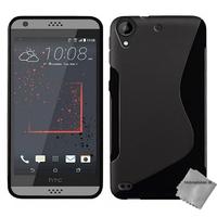 Housse etui coque pochette silicone gel fine pour HTC Desire 530 + film ecran - NOIR