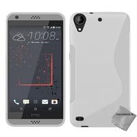 Housse etui coque pochette silicone gel fine pour HTC Desire 530 + film ecran - BLANC