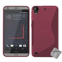 Housse etui coque pochette silicone gel fine pour HTC Desire 530 + film ecran - ROSE