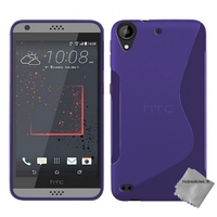 Housse etui coque pochette silicone gel fine pour HTC Desire 530 + film ecran - MAUVE