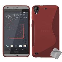 Housse etui coque pochette silicone gel fine pour HTC Desire 530 + film ecran - ROUGE