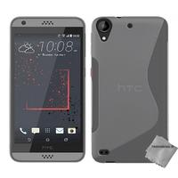 Housse etui coque pochette silicone gel fine pour HTC Desire 530 + film ecran - TRANSPARENT