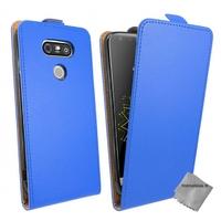 Housse etui coque pochette PU cuir fine pour LG G5 + verre trempe - BLEU