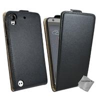 Housse etui coque pochette PU cuir fine pour HTC Desire 530 + film ecran - NOIR