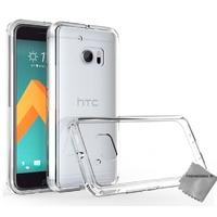 Housse etui coque silicone gel fine pour HTC 10 (One M10) + film ecran - TPU TRANSPARENT