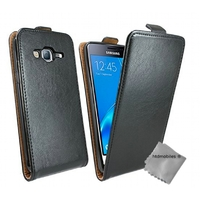 Housse etui coque pochette PU cuir fine pour Samsung Galaxy J5 (2016) + film ecran - NOIR