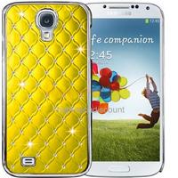 Housse etui coque chrome rigide pour Samsung i9500 i9505 Galaxy s4 IV + film ecran - JAUNE