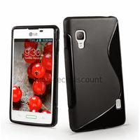 Housse etui coque pochette silicone gel pour LG Optimus L5 II 2 e460 + film ecran - NOIR