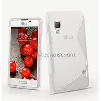 Housse etui coque pochette silicone gel pour LG Optimus L5 II 2 e460 + film ecran - BLANC